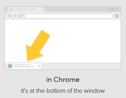 showing downloads in Chrome