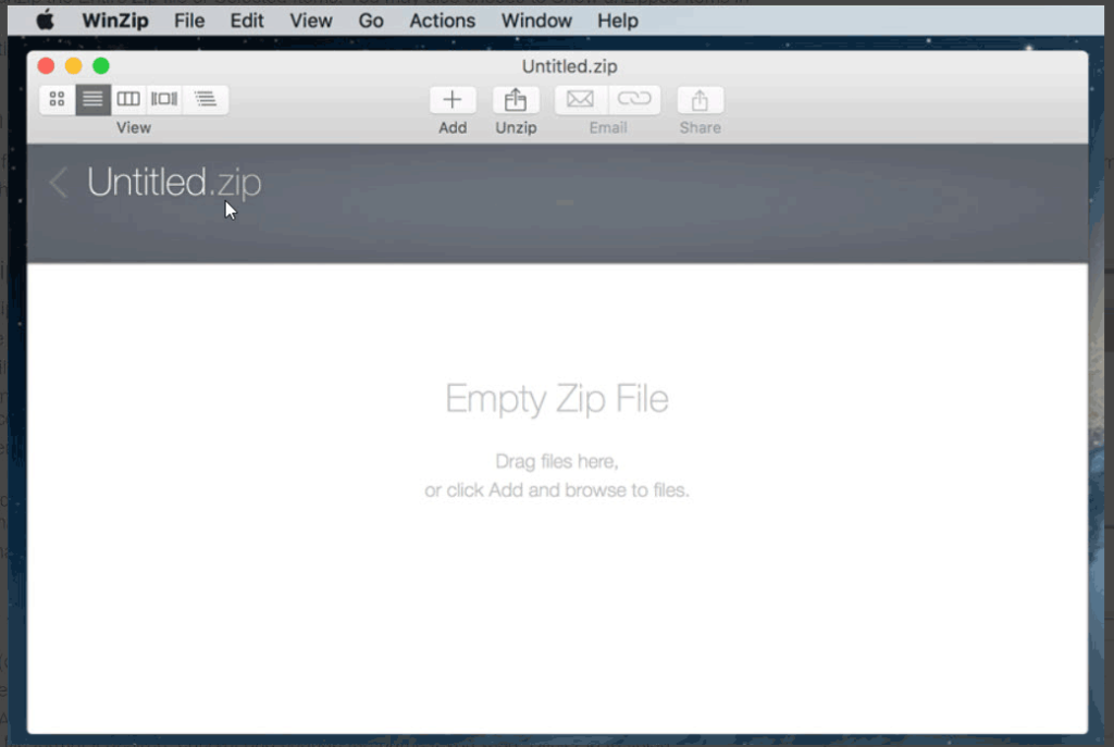 Create zip files